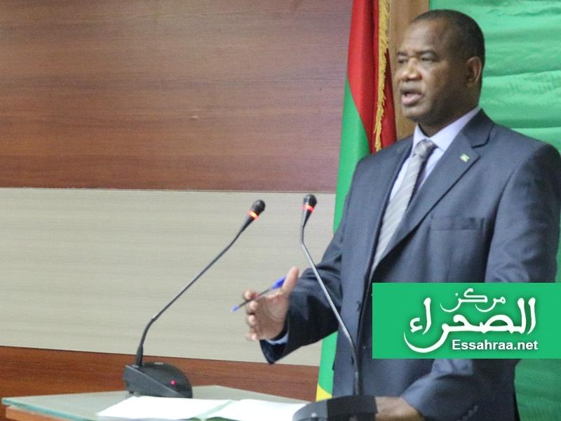 وزير الثقافة والصناعة التقليدية سيدي محمد ولد الغابر – (المصدر: الصحراء)