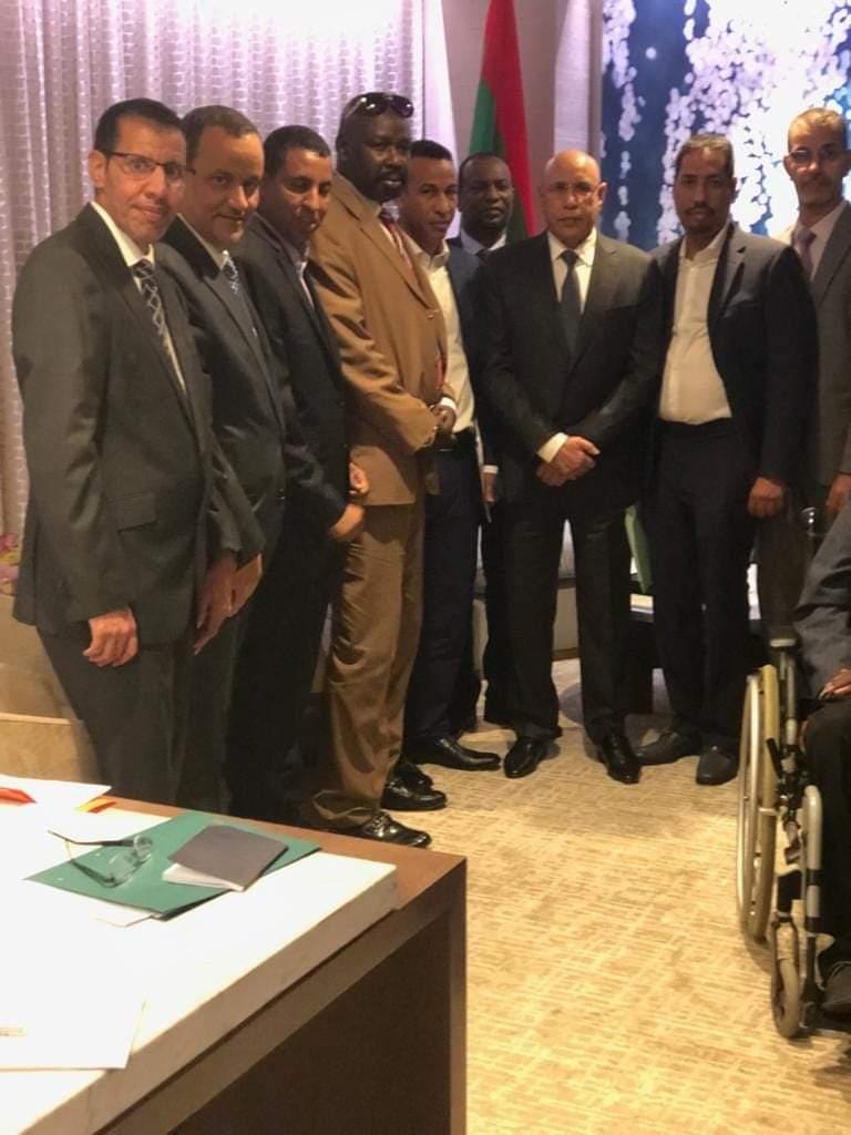 الرئيس غزواني في لقائه بالجالية الموريتانية في أميركا