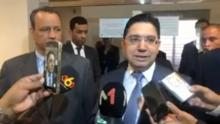 وزير الخارجية المغربي خلال تصريح صحفي (المصدر: الصحراء Plus)
