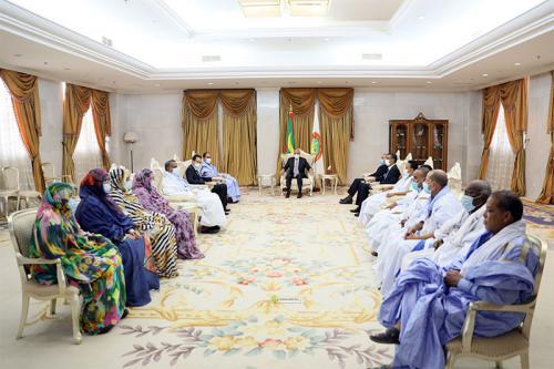 Le Président Ghazouani reçoit les députés de l'UPR du Hodh Charghi