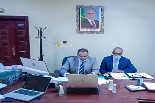L'IGE  M. Mahfoudh Ould Brahim (à gauche)