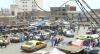 L'un des accès du marché de la capitale dans le centre ville