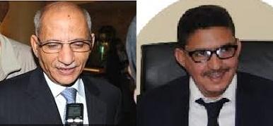 De g à d : Ould Tajidine (BCI) et Ould Taya (BAMIS)