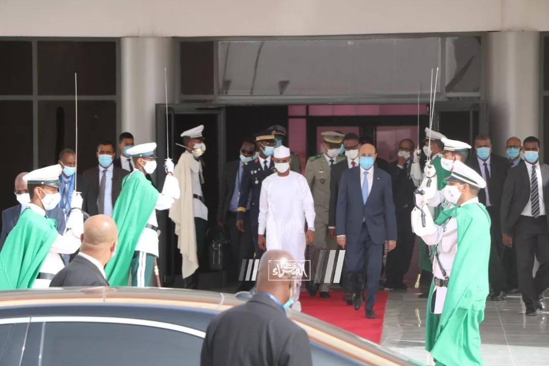 Arrivée du Président tchadien à Nouakchott ...Photos