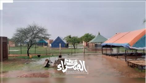 Des pluies sur   des localités de la wilaya du Trarza ... Hauteurs