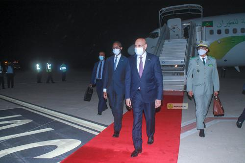 Le Président regagne Nouakchott en provenance de Brazzaville