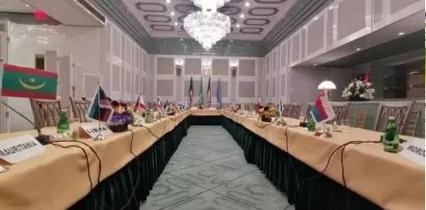Ismail présent à une rencontre des Chefs de diplomate arabes à New York