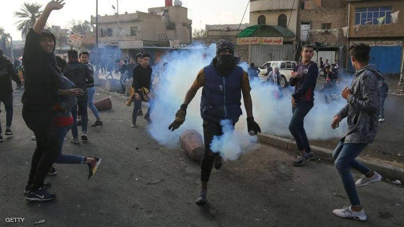 تظاهرات العراق مستمرة وسقوط جرحى بصفوف المحتجين
