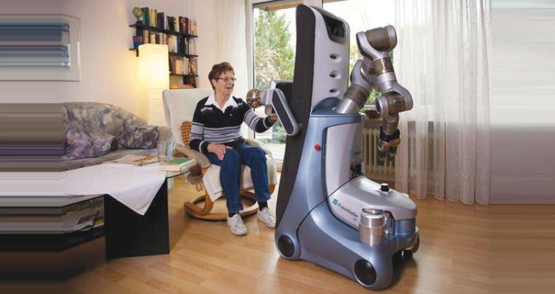 روبوت يقوم بالأعمال المنزلية