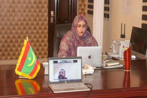 وزيرة الشؤون الاجتماعية الناها منت الشيخ سيديا (ارشيف - و م أ)