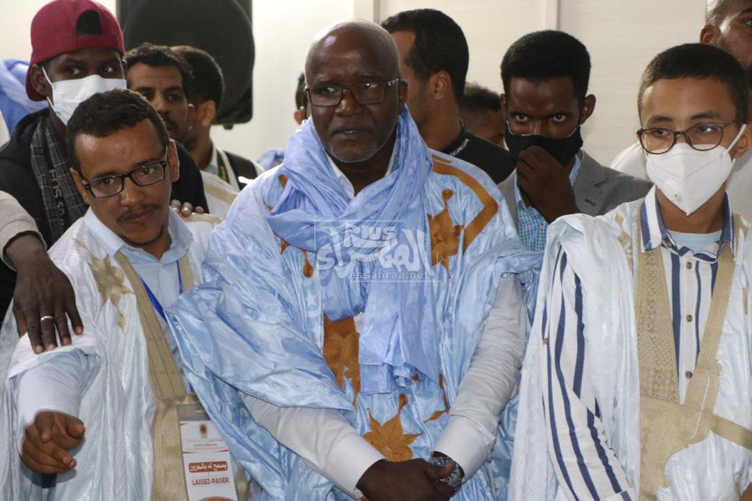 جانب من المؤتمر الصحفي لولد عبد العزيز ـ (المصدر: الصحراء)