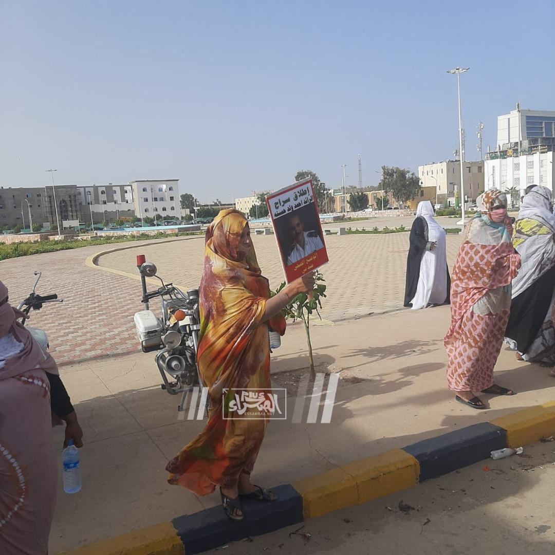 وقفة احتجاجية للمطالبة بالإفراج عن سجين في بير أم كرين ـ (المصدر: الصحراء)