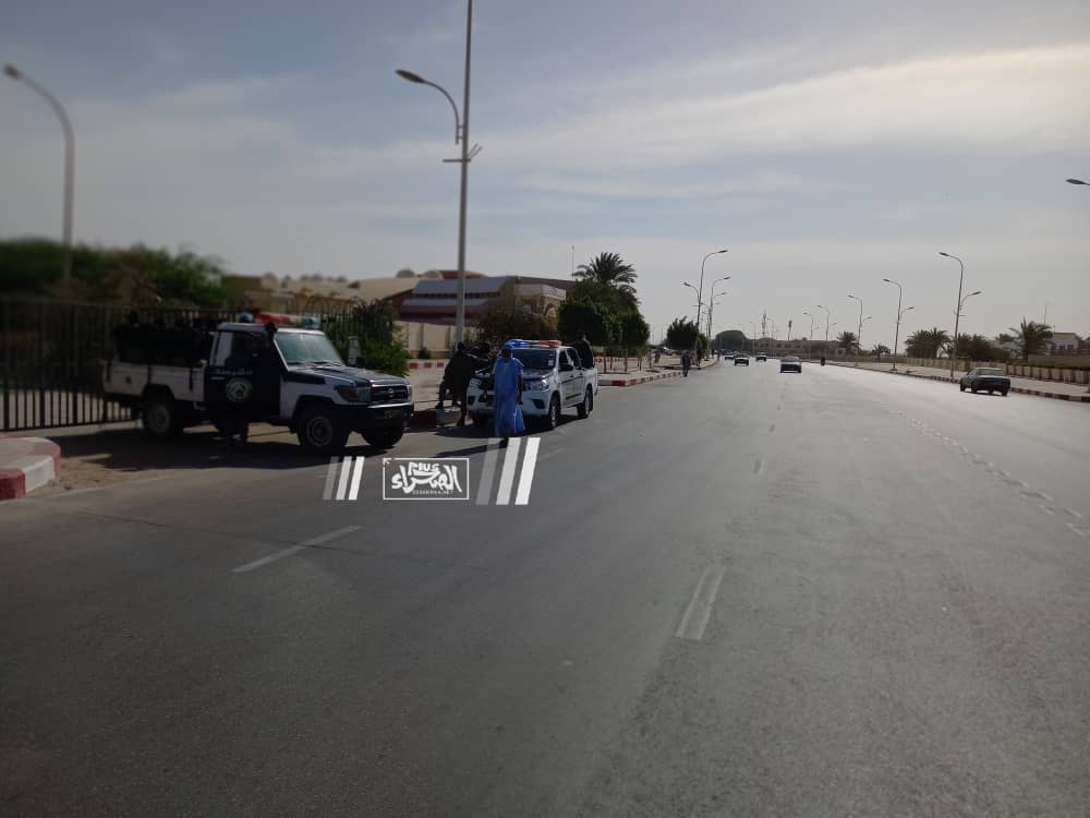محيط قصر العدل صباح اليوم ـ (المصدر: الصحراء)