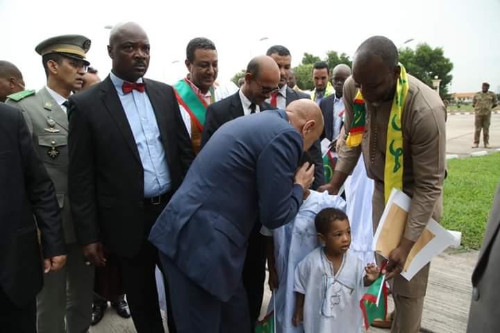 وصول الرئيس محمد ولد الشيخ الغزواني الكونغو-(المصدر: الأنترنت)