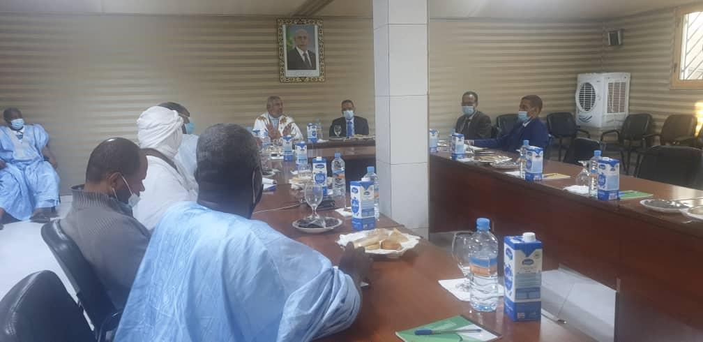 اجتماع عمد نواكشوط ومدير شركة صوملك