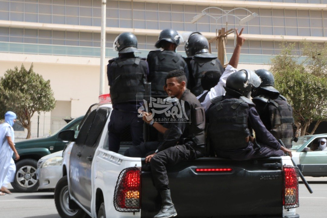 جانب من الوقفة الاحتجاجية- المصدر (الصحراء)