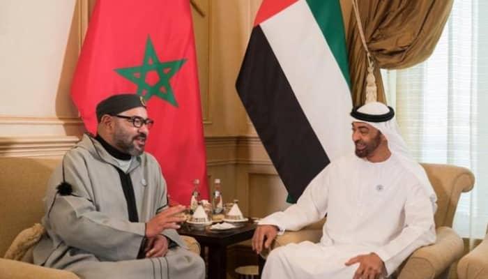 لقاء سابق بين الشيخ محمد بن زايد آل نهيان والعاهل المغربي