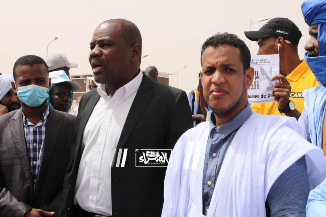 نشطاء يحتجون للمطالبة بوقف جرائم القتل ـ (المصدر: الصحراء)