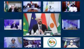 القمة الأوروبية الساحلية عبر الفيديو (المصدر: الانترنت)