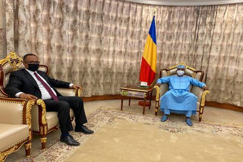 لقاء بين الرئيس التشادي ورئيس اتحاد أرباب العمل الموريتانيين- (وما)