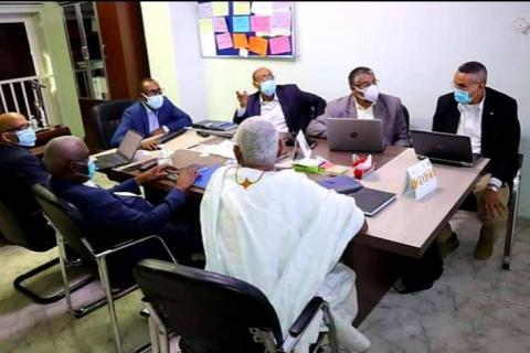 اجتماع للجنة فنية تابعة لوزارة الصحة- المصدر (فيسبوك)