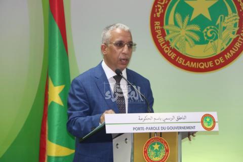 وزير الشباب والرياضة المختار ولد داهي- المصدر (الصحراء)