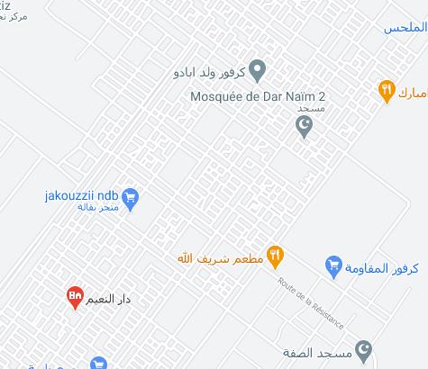 خريطة بعض أحياء مقاطعة دار النعيم (ارشيف - انترنت)