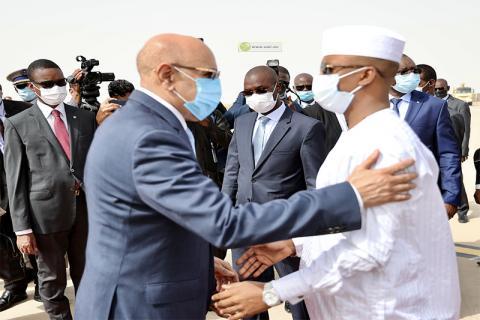 الرئيسان الموريتاني والتشادي- المصدر (وما)