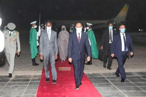 عودة سابقة للرئيس غزواني من سفر خارجي (ارشيف - انترنت)