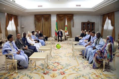 اتحاد الأدباء والرئيس محمد ولد الشيخ الغزواني (المصدر: وما)