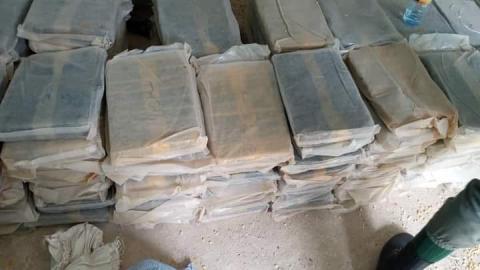 المخدرات المصادرة خلال العملية- المصدر: الشرطة الوطنية