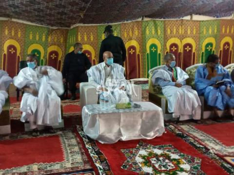 الرئيس ولد الغزواني في لقاء مع أطر تيرس زمور ـ (المصدر: الإنترنت)