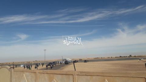 الرئيس محمد ولد الشيخ الغزواني يصل ازويرات ـ (المصدر: الصحراء)
