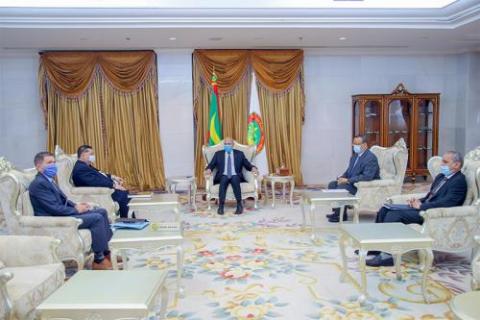 الرئيس غزواني يستقبل المبعوث الأمريكي في الساحل ـ (لمصدر: الإنترنت)