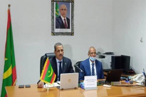 وزير الثقافة خلال مشاركته في اجتماع عربسات- المصدر (الانترنت)