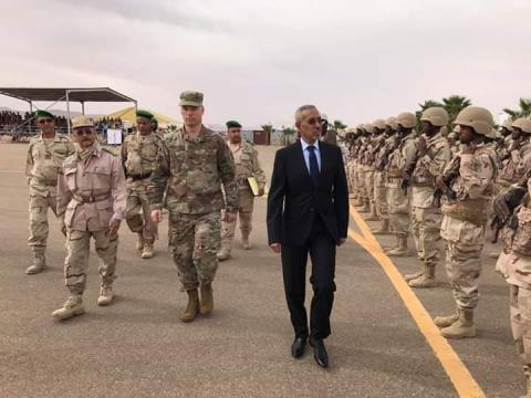 وزير الدفاع حننه ولد سيدي (المصدر: حساب السفارة الأميريكية على الفيس بوك)