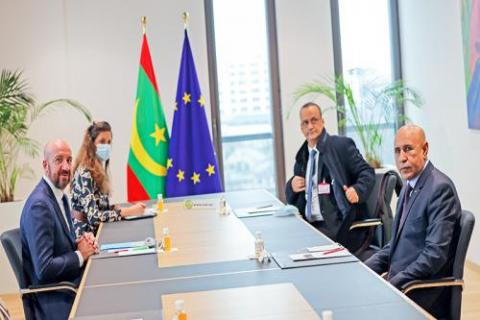 الرئيس غزواني يجري محادثات مع رئيس مجلس الاتحاد الأوروبي ـ (المصدر: وما)