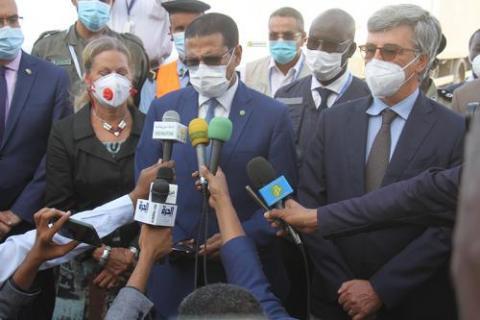"""موريتانيا تتسلم دفعة من اللقاحات المقدمة من مبادرة """"كوفاكس"""" ـ (المصدر: وما)"""