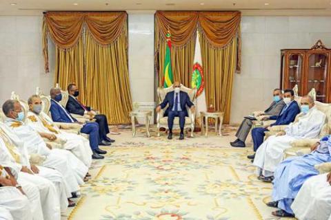 الرئيس غزواني يستقبل رئيس أرباب العمل والموردين ـ (المصدر: وما)