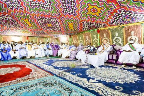 الرئيس غزواني في لقاء مع أطر كيدي ماغا ـ (المصدر: الإنترنت)