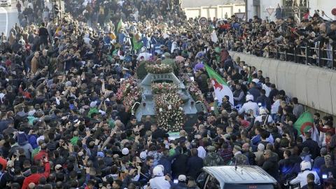 من الحراك الشعبي في الجزائر - فرانس برس