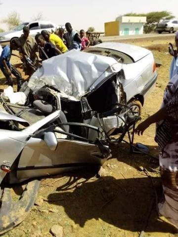مشهد من مخلفات حادث السير