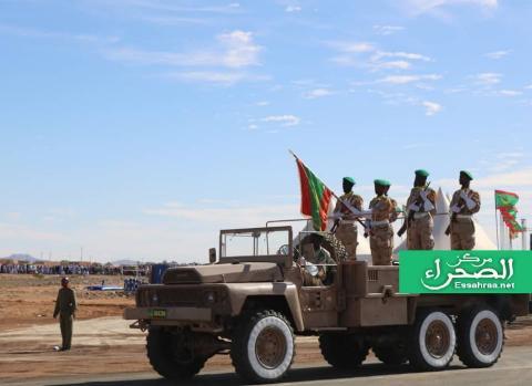 أفراد من الجيش الوطني في استعراض الشهر الماضي - (أرشيف الصحراء)