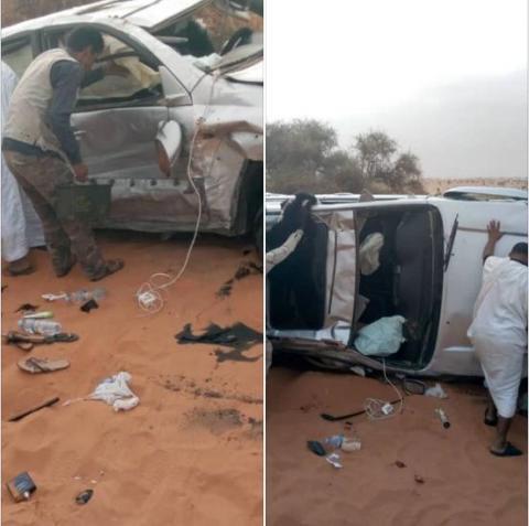 صور من الحادث تداولها نشطاء على شبكات التواصل الاجتماعي