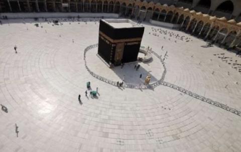 بيت الله الحرام فترة تفشي كورونا في السعودية-(المصدر: الانترنت)