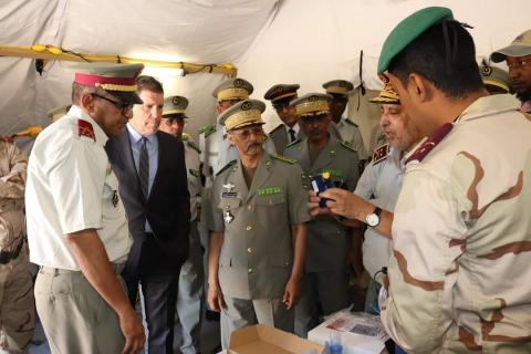مراسيم تسليم المستشفى الميداني (المصدر: موقع الجيش)