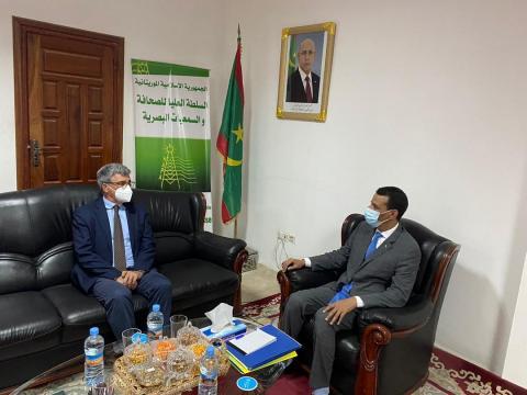 رئيس الهابا خلال استقباله لسفير الاتحاد الأوروبي- المصدر (الهابا)