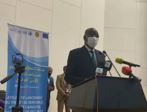 وزير الداخلية خلال ورشة إطلاق مشروع تعزيز قدرات الأمن الداخلي
