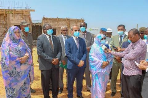 وزيرة الإسكان تتفقد بعض المنشآت في نواكشوط ـ (المصدر: وما)