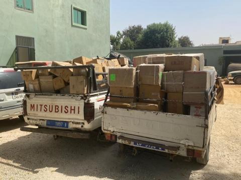 السيارتان المصادرتان (المصدر: موقع الجمارك السنغالية)